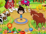 Management-game-farm-with-a-little-girl