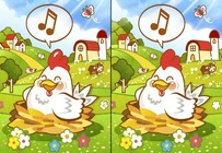 Differences-game-with-a-chicken