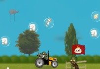 Golf-tractor-with-a-zombie