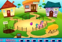 Pony-play-on-the-farm
